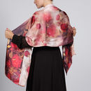 Florals Print Luxury Silk Satin Scarf