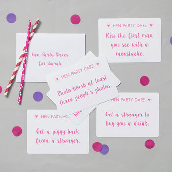 Hen Party Dare Cards