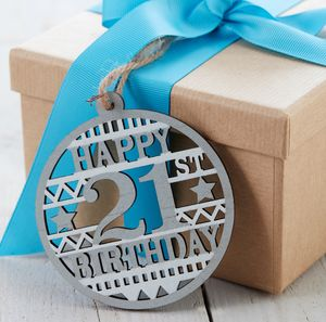 21st Birthday Gift Tag