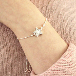Double Sparkling Star Personalised Bracelet