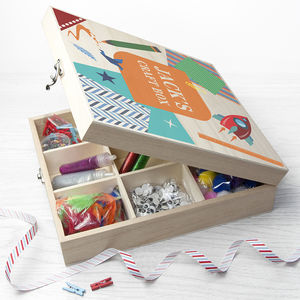 Personalised Boy's Craft Box - creative activities