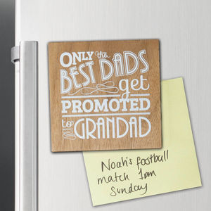 Wood Best Grandad Magnet