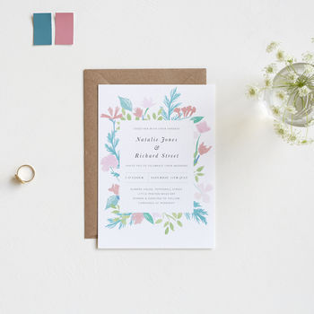 Summer Wedding Invitations, Bouquet