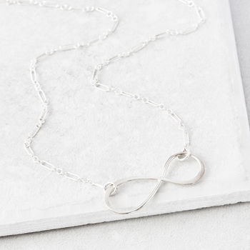 For All Time Infinity Silver Necklace