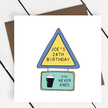 Road Sign Birthday Card