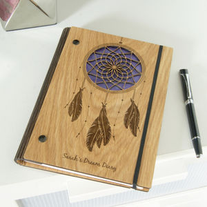 Personalised Wooden Dream Notebook