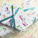 Unicorn Gift Wrap With Tags