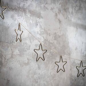 Brass Star Garland