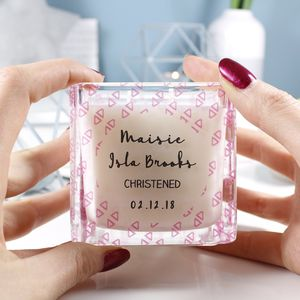 Christening Square Scented Candle