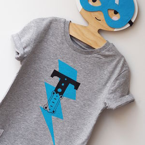 Kids Personalised Superhero T Shirt - clothing