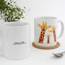 Personalised Giraffe Family, Selfie Mug