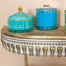 Ornate Distressed Metal Wall Shelf