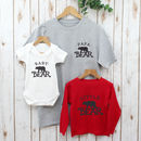 Papa Bear Daddy Family T Shirts Set