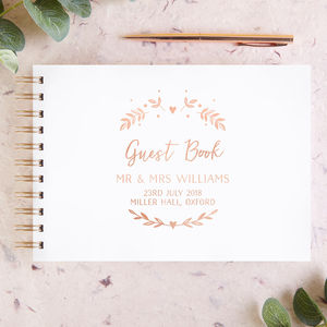 Botanical Wedding Guest Book Foil - albums & guest books