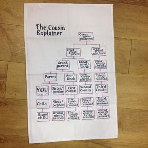Cousin Explainer Tea Towel