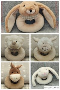 Baby Plush Soft Rattle With Choice Of Animal