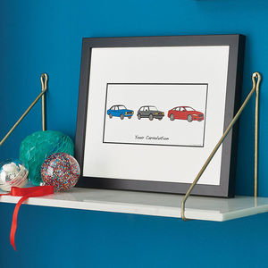 Personalised Carvolution™ Print - best gifts for fathers