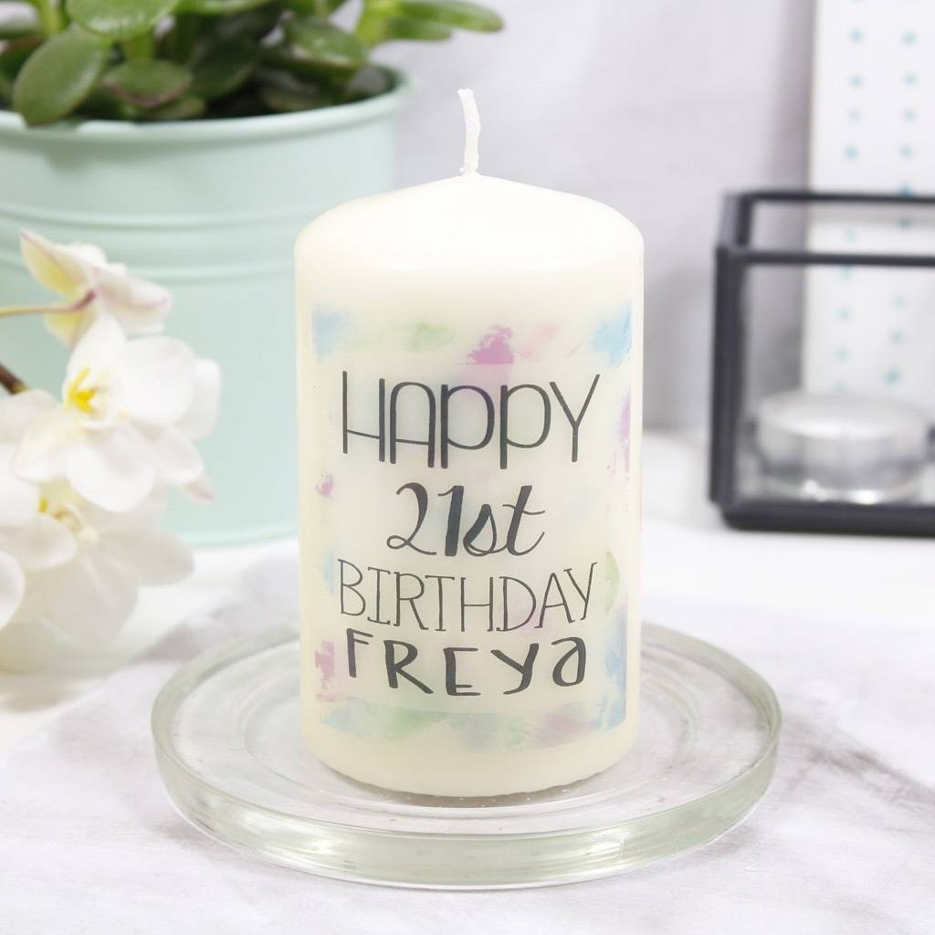 Personalised Happy Birthday Candle