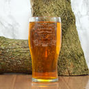 Engraved Pint Glass For The Usher