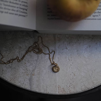 Baby Compass Necklace In Silver Or Gold