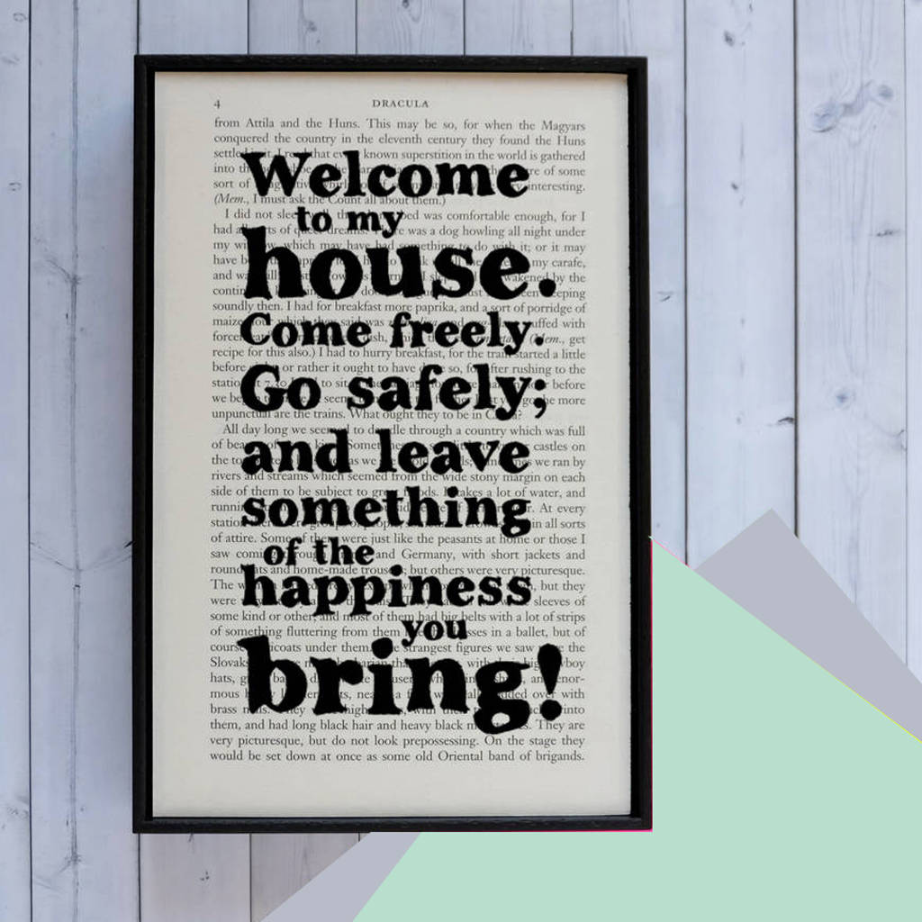 New Home Gift U0027Welcome To My Houseu0027 Quote Housewarming Print