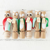 Christmas Woodland Animal Crackers - christmas decorations