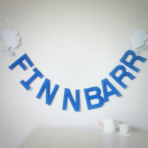 Personalised Felt Cloud And Star Name Garland - hanging decorations
