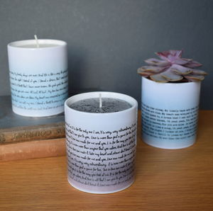 Your Special Song Personalised Pot With Candle Option