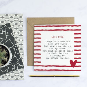 Cheeky Love Poem Card