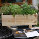 Personalised Bbq Herb Planter Or Condiment Storage