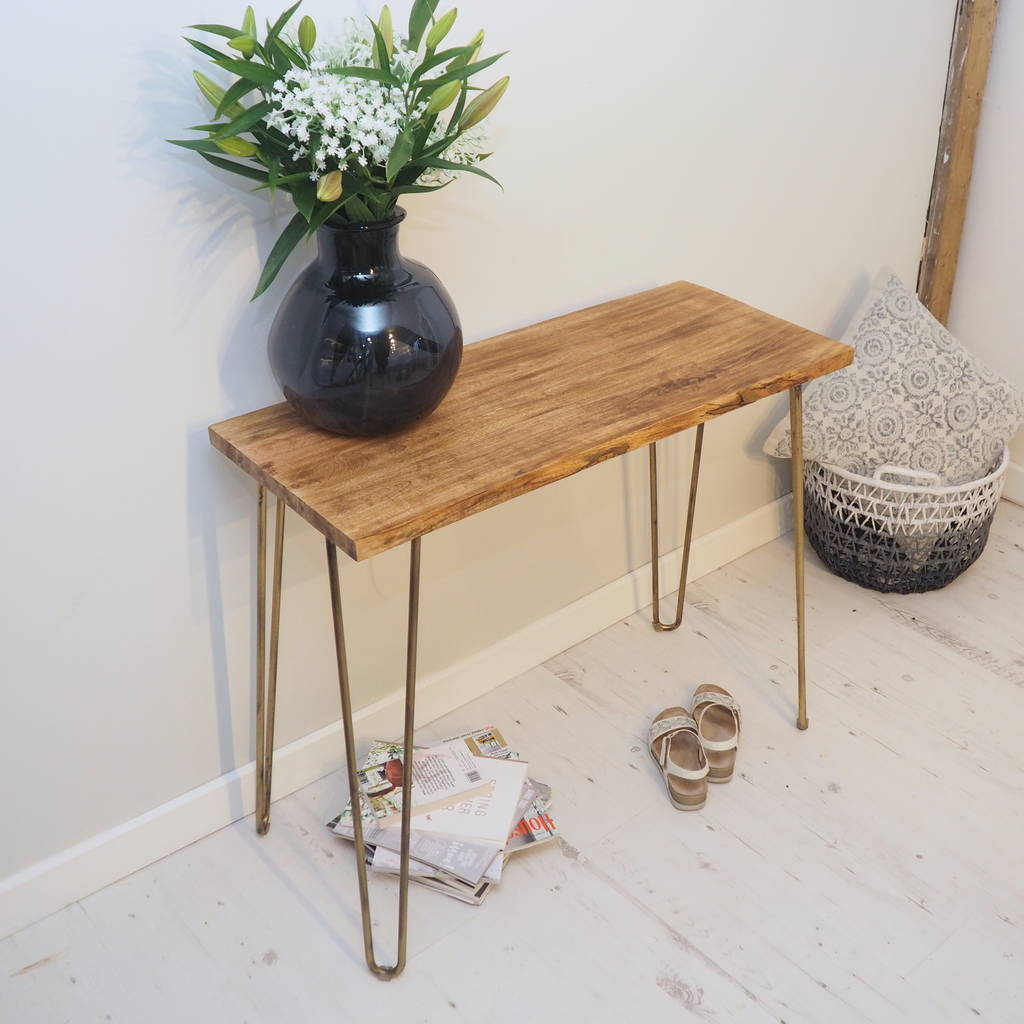 hot sale online c0d4f 01886 Accent Wooden Console Table With Hairpin Legs