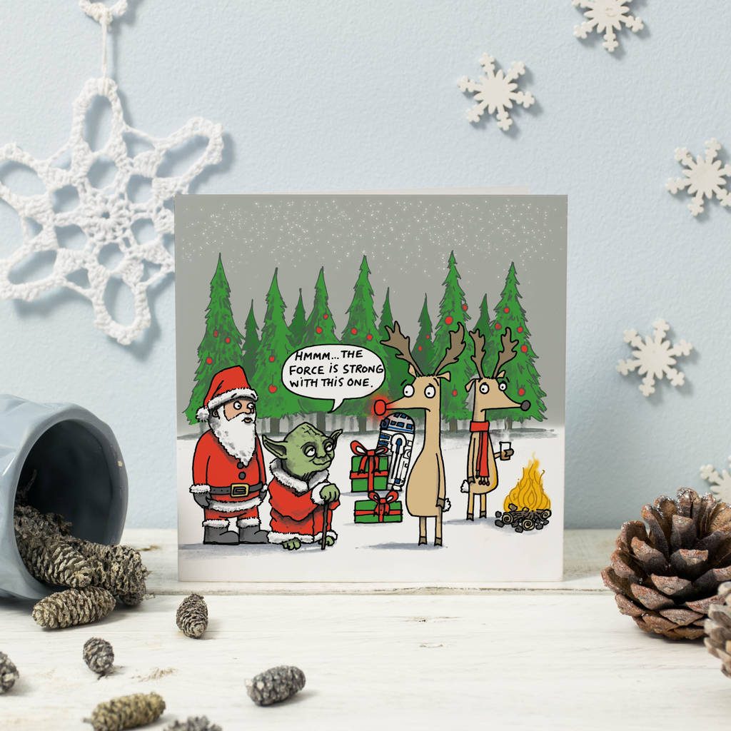 yoda and rudolph star wars christmas card - Star Wars Christmas Card