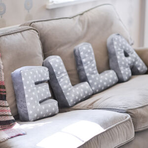 Soft Fabric Letter Cushions