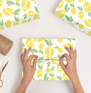 Personalised Lemon Wrapping Paper