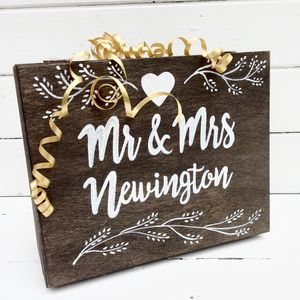 Personalised Wedding Keepsake/Memory Box