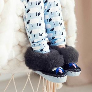Childrens Dark Grey Sheepers Slippers - gifts for children