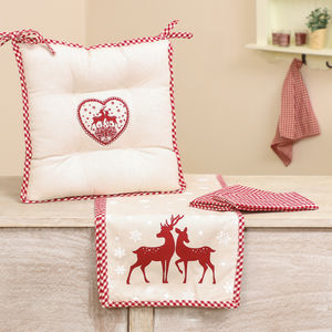 Winter Stag Dining Linen Collection