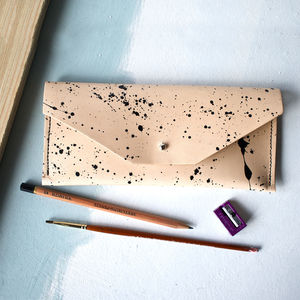 Handmade One Of A Kind Luxury Leather Pencil Case