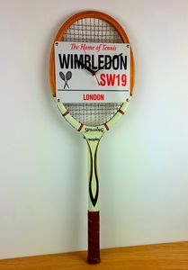 Wimbledon Tennis Racket Wall Clock - clocks