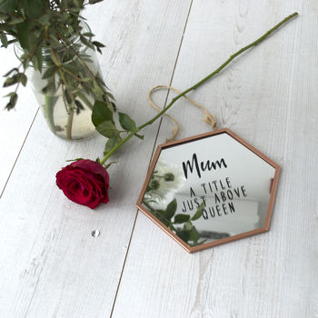 Mum Title Above Queen Personalised Mirror