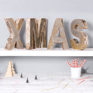 Birch Bark Letters - outdoor decorations