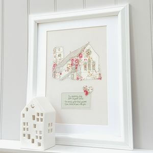 Personalised Cotton Church Portrait