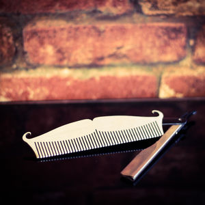 Amelie Stainless Steel Beard Comb Pocket Size - grooming gift sets