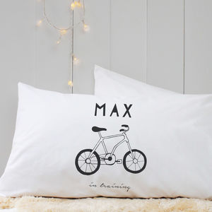 Personalised 'Hand Drawn Hobby' Pillow Case - children's room