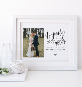 'Happily Ever After' Personalised Wedding Gift - best anniversary gifts