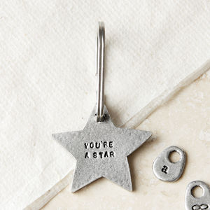'You're A Star' Keyring - thank you gifts