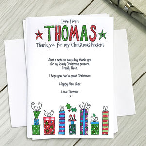 Thank You For My Christmas Present Notecards - shop by category