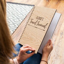 Personalised Wooden Travel Journal Notebook