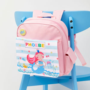 Girls Personalised Mermaid Mini Rucksack - more