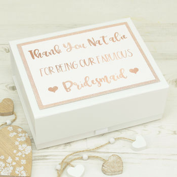 Personalised Rose Gold Bridal Party Gift Box
